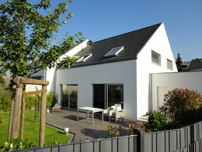 planquadrat architektur neubau doppelhaus in bonn geislar. Black Bedroom Furniture Sets. Home Design Ideas